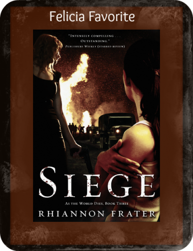 Siege by Rhiannon Frater 386x500 Month of Thanks #8: Rhiannon Frater and The Bookish Brunette
