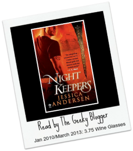 ReRead Review: Nightkeepers (Nightkeepers #1) by Jessica Andersen #SeriouslySeries #TakingControl