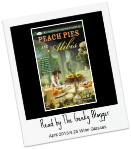 Review: Peach Pies and Alibis (A Charmed Pie Shoppe Mystery #2) by Ellery Adams #BookClubRead @DFWTea